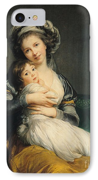 Self Portrait In A Turban With Her Child Phone Case by Elisabeth Louise Vigee Lebrun