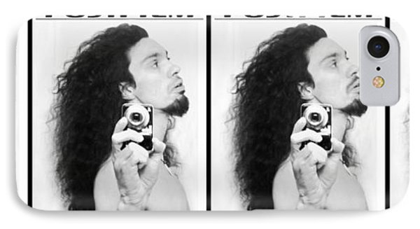 Self Portrait Progression Of Self Deception IPhone Case by Shawn Dall