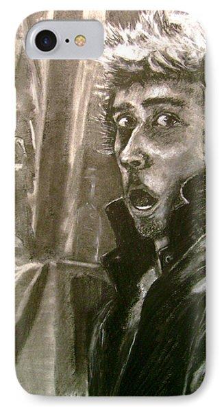 Self Portrait Vs Long Hair IPhone Case by Nils Beasley