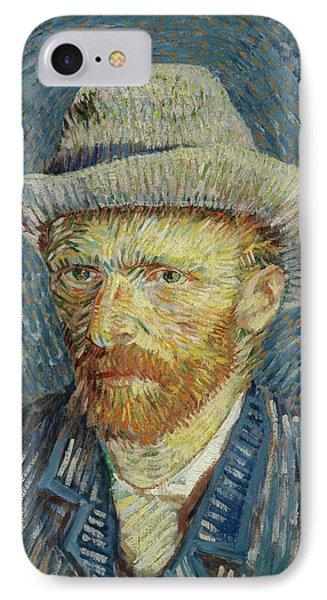 Self-portrait With Grey Felt Hat IPhone Case by Vincent van Gogh