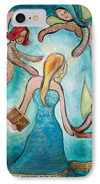 Self Portrait With Three Spirit Guides Phone Case by Carola Joyce