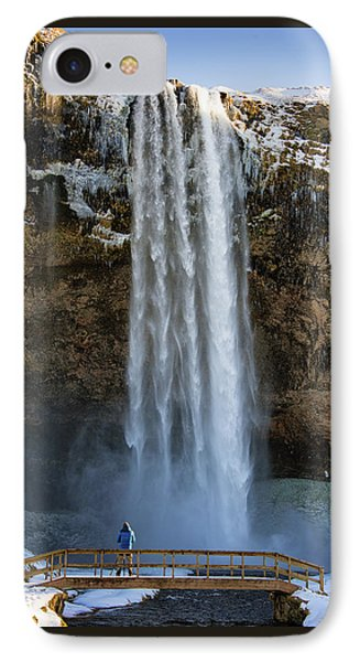 IPhone Case featuring the photograph Seljalandsfoss Waterfall Iceland Europe by Matthias Hauser