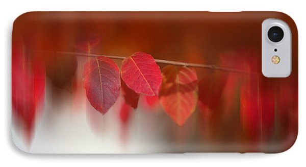 Semi Abstract Red Leaves IPhone Case