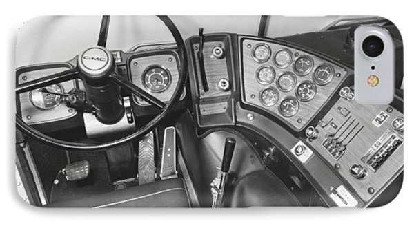 Semi-trailer Cab Interior IPhone Case by Underwood Archives