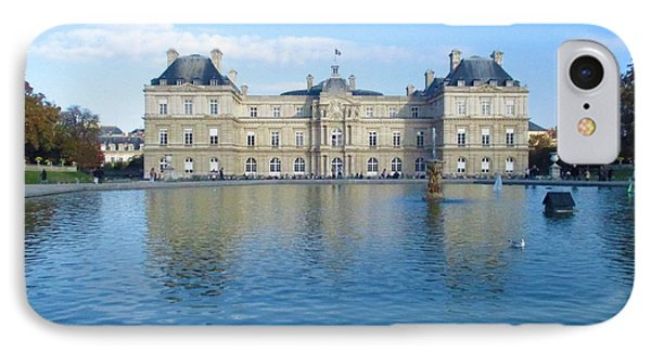 IPhone Case featuring the photograph Senat From Jardin Du Luxembourg by Christopher Kirby