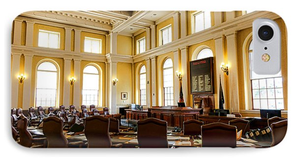 Senate Chamber At The Maine Capitol In Augusta IPhone Case by Olivier Le Queinec