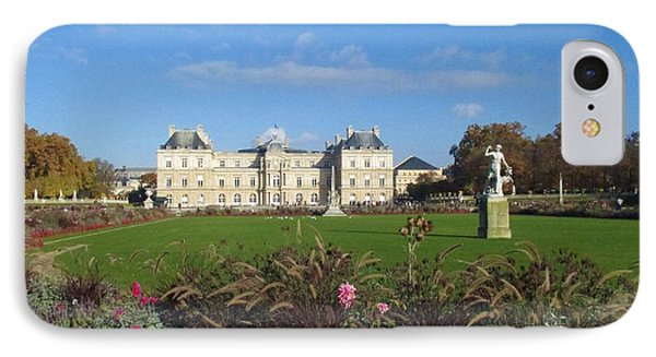 IPhone Case featuring the photograph Senate From Jardin Du Luxembourg by Christopher Kirby