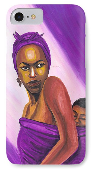 IPhone Case featuring the painting Senegalese Woman by Emmanuel Baliyanga