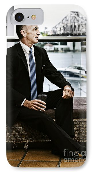 Senior Executive With Positive Future Outlook IPhone Case by Jorgo Photography - Wall Art Gallery
