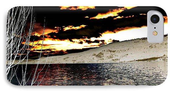 Sensational Winter Sunset IPhone Case by Will Borden