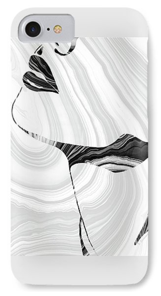 Sensual Portrait Art - Marbled Seduction - Sharon Cummings IPhone Case by Sharon Cummings
