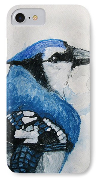 Sentimental Blue Phone Case by Patricia Arroyo