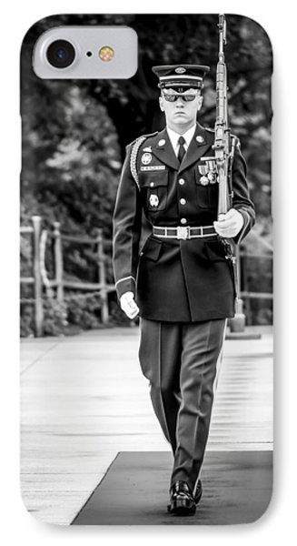 IPhone Case featuring the photograph Sentinel At The Tomb Of The Unknowns by David Morefield