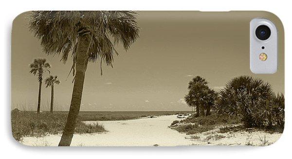 Sepia Beach IPhone Case