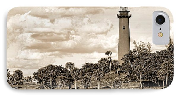 Sepia Lighthouse Phone Case by Rudy Umans