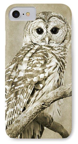 Sepia Owl IPhone 7 Case