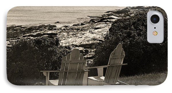 Sepia Seaside Retreat Phone Case by Lone Dakota Photography
