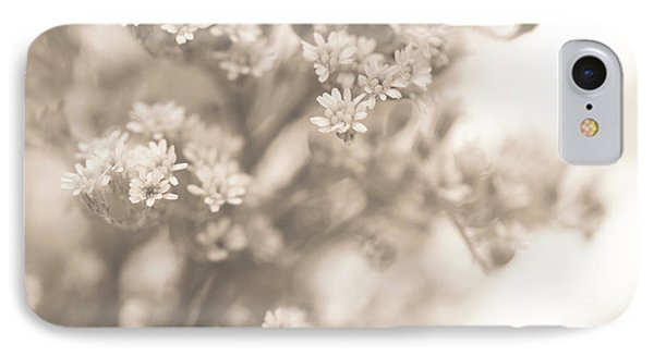Sepia Solidago 2 IPhone Case by Anne Gilbert