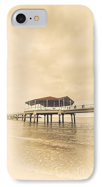 Sepia Toned Image Of A Vintage Marine Pier IPhone Case by Jorgo Photography - Wall Art Gallery