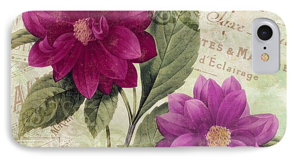 September Dahlias IPhone Case by Mindy Sommers