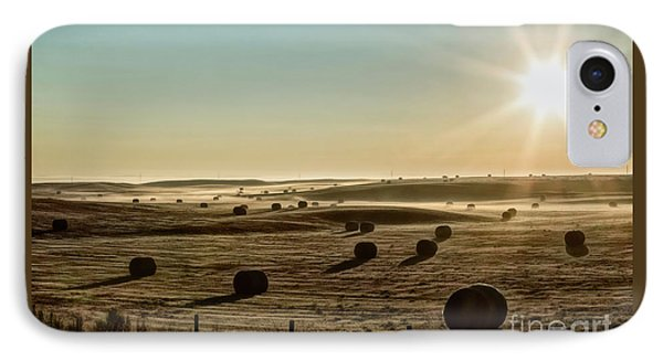 IPhone Case featuring the photograph September Hay by Brad Allen Fine Art
