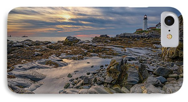 September Morn At Portland Head IPhone Case by Rick Berk