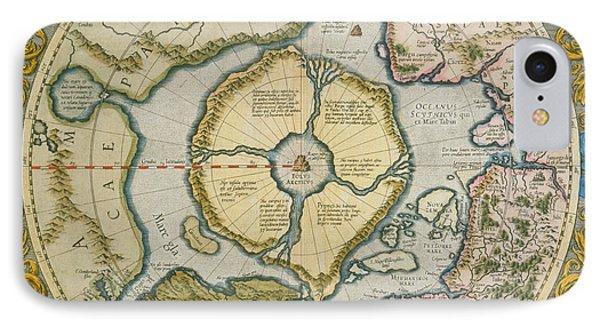 Septentrionalium Terrarum Descriptio IPhone Case by Gerardus Mercator