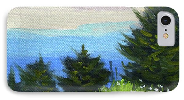 IPhone Case featuring the painting Sequim Vista by Nancy Merkle