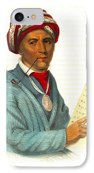 Sequoyah 1838 IPhone Case by Padre Art