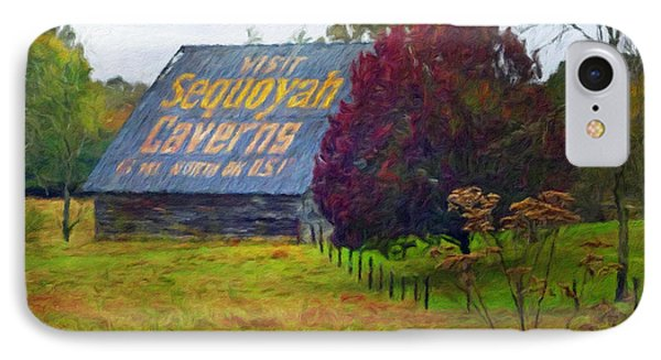 Sequoyah Caverns Sign Old Barn IPhone Case
