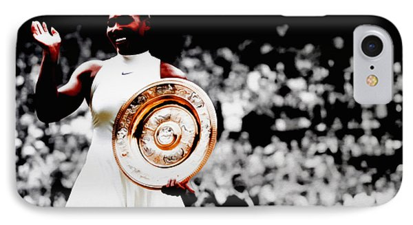 Serena 2016 Wimbledon Victory IPhone 7 Case by Brian Reaves