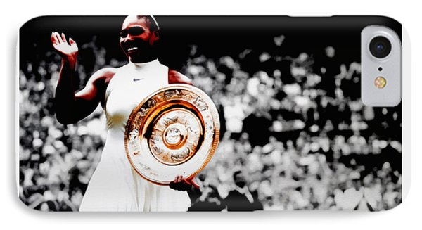 Serena 2016 Wimbledon Victory IPhone Case by Brian Reaves
