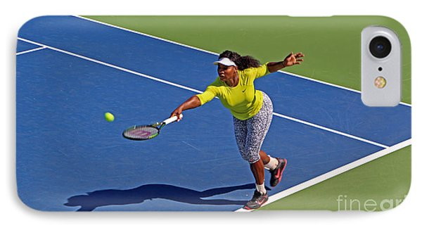 Serena Williams 1 IPhone Case by Nishanth Gopinathan