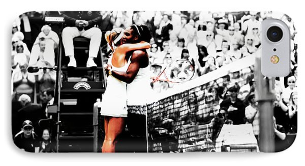 Serena Williams And Angelique Kerber 1a IPhone Case by Brian Reaves