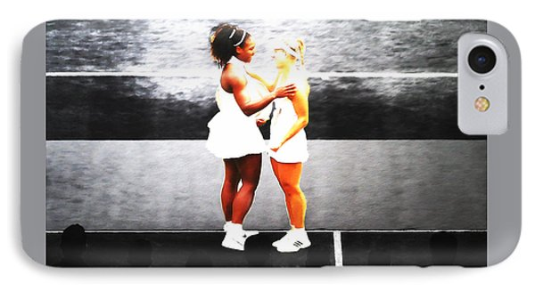 Serena Williams And Angelique Kerber 3a IPhone Case by Brian Reaves