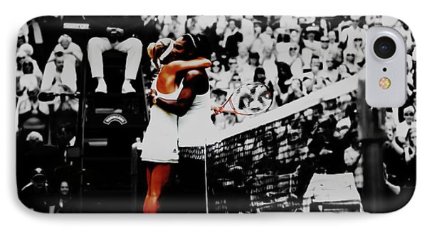 Serena Williams And Angelique Kerber IPhone 7 Case by Brian Reaves