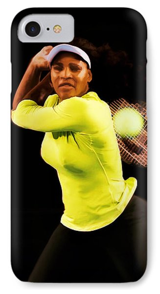 Serena Williams Bamm IPhone 7 Case by Brian Reaves