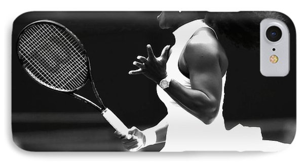 Venus Williams iPhone 7 Case - Serena Williams Making Magic Happen by Brian Reaves