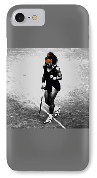 Serena Williams Match Point 3a IPhone 7 Case by Brian Reaves