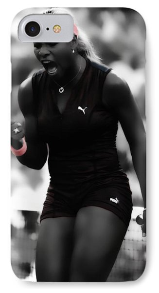 Serena Williams On Fire IPhone 7 Case