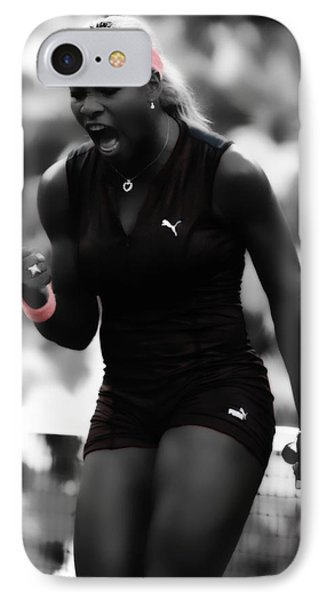 Serena Williams On Fire IPhone Case by Brian Reaves