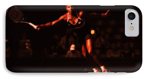 Serena Williams Passion IPhone Case by Brian Reaves