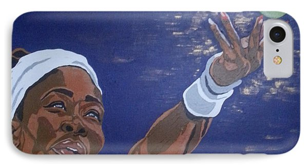 IPhone Case featuring the painting Serena Williams by Rachel Natalie Rawlins