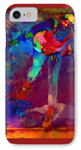 Serena Williams Return Explosion IPhone 7 Case by Brian Reaves