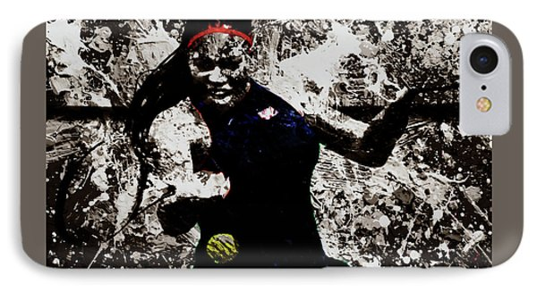 Serena Williams S4e IPhone Case by Brian Reaves