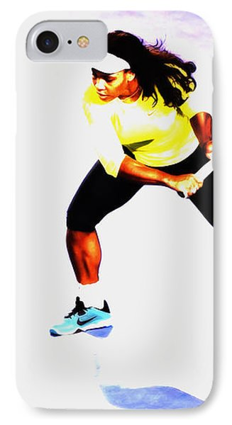 Serena Williams Soft Touch IPhone Case by Brian Reaves
