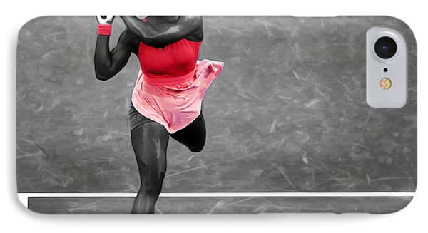 Serena Williams Strong Return IPhone Case by Brian Reaves