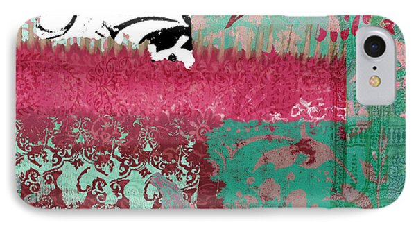 Serendipity Damask Batik I IPhone Case by Mindy Sommers
