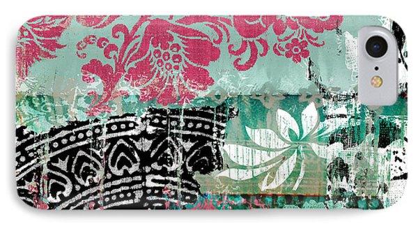 Serendipity Damask Batik II IPhone Case by Mindy Sommers