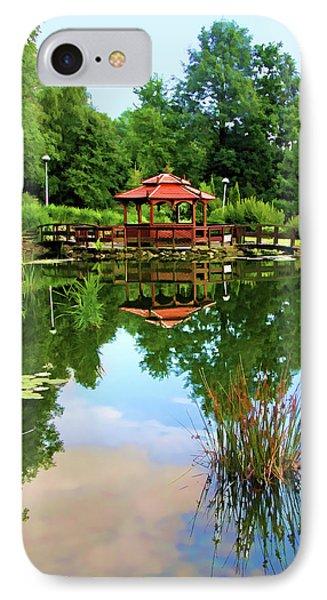 Serene Garden IPhone Case by Mariola Bitner